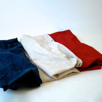 vintage french flag, tattered vintage flag, blue white red flag, lovely patriotic wall hanging, french home decor, industrial loft decor