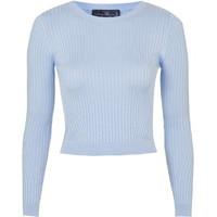 TopShop Petite Travelling Rib Crop Top