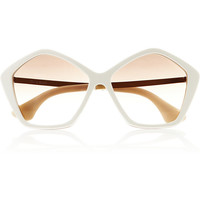 Miu Miu | Hexagonal-frame acetate and metal sunglasses | NET-A-PORTER.COM