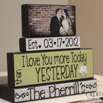 Personalized Wedding/Anniversary Wood Blocks