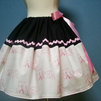 Breast Cancer Awareness SkirtFck Cancer Skirt by TootSweetSkirts