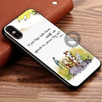 Calvin and Hobbes Cartoon iPhone X 8 7 Plus 6s Cases Samsung Galaxy S8 Plus S7 edge NOTE 8 Covers #iphoneX #SamsungS8