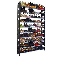 50 Pair Shoe Rack - Finish: Black
