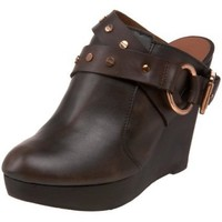 Matt Bernson Women`s Gunslinger Wedge Clog,Brown,7 M US