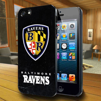 Super Bowl Logo Ravens - Print on Hard Cover For iPhone 4/4S and iPhone 5 Case - Please Leave Message For Device And Colour Case