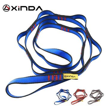 XINDA Professional Outdoor Climbing Rope Climbing Auxiliary Rope Downhill Aerial Yoga Hammock Daisy Ring Sling Equipment