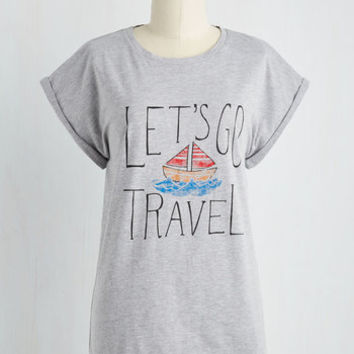 Nautical Mid-length Wide Ocean Spaces Tee