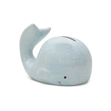 Modern Mini Whale Piggy Bank, Blue