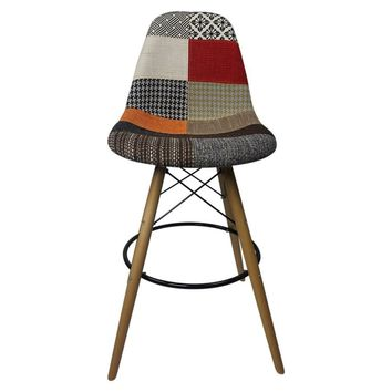DSW Patchwork G - Bar Eiffel Chair Stool - Reproduction