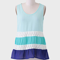 Ocean Tides Colorblock Top