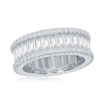The Eternity Baguette Ring, Clear CZ
