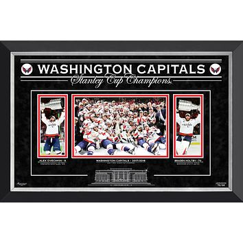 WASHINGTON CAPITALS THE STANLEY CUP CHAMPS, OVECHKIN AND HOLTBY, LTD ED 70 OF 88