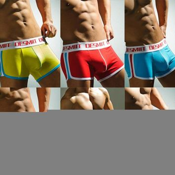 Men Underwear Striped Boxer Shorts Modal Pants Suit Underpants Men Boxers