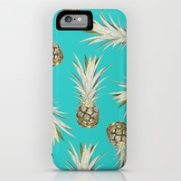 Pineapple Jam Turquoise iPhone & iPod Case by Lisa Argyropoulos