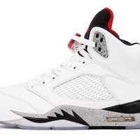 "AIR JORDAN 5 RETRO ""WHITE / CEMENT"""
