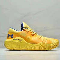 UA Under Armour 2018 autumn and winter new trend men's wild sports shoes yellow
