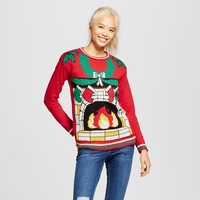 Women's Light-Up Fireplace Sweater - Xhilaration™ (Juniors') Red