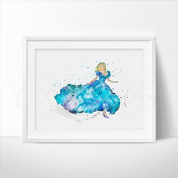 Cinderella 3 Watercolor Art Print