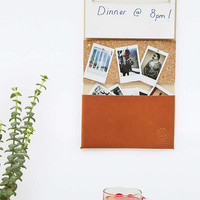 Hanging Organiser with Leather Pocket - Urban Outfitters