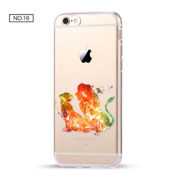 The Lion King Clear Soft Disney Phone Case For iPhone 7 7Plus 6 6s Plus 5 5s SE C
