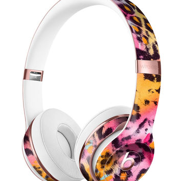 Rainbow Leopard Sherbert Full-Body Skin Kit for the Beats by Dre Solo 3 Wireless Headphones