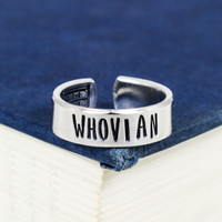 Whovian - Doctor Who - TARDIS - Adjustable Aluminum Ring