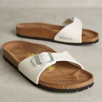Birkenstock Madrid Galaxy Sandals in Ivory Size: