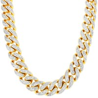 "Men's 30"" Iced Out Miami Cuban Link Custom Necklace"