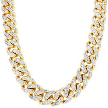 """Men's 30"""" Iced Out Miami Cuban Link Custom Necklace"""