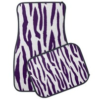 Purple Tiger Print Car Mat