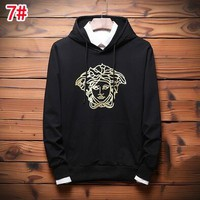 Versace Fashionable Women Men Casual Long Sleeve Hoodie Sweater Pullover Top Sweatshirt