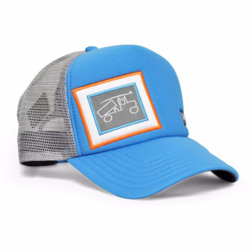 Snapback Trucker Beach Blue and Grey Hat