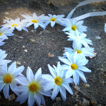 Daisy headband, Daisy Flower Crown, Flower Headband, White Daisy HeadBand, White Daisies, hippie, boho, bridal, floral,  hippie, bohemian