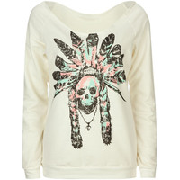 FULL TILT Skull Chief Womens Sweatshirt 210377151 | Sweatshirts & Hoodies | Tillys.com