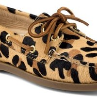 Sperry Top-Sider Authentic Original 2-Eye Boat Shoe by Jeffrey LeopardPonyHair, Size 8M  Women's Shoes