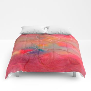 Improvisation 19 Comforters by ViviGonzalezArt