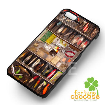 Vintage Tool Box Fishing Tackle Box -ed3 for iPhone 6S case, iPhone 5s case, iPhone 6 case, iPhone 4S, Samsung S6 Edge