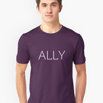 'Ally Pride - LGBTA Solidarity' T-Shirt by SunBadgerMalibu