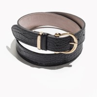 & Other Stories | Croco Leather Belt | Black
