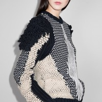 & Other Stories | Texture-Knit Sweater | Off white