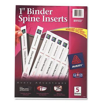 Avery® Binder Spine Inserts