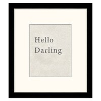 Hello Darling Framed Art