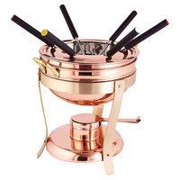 Decor Copper Fondue Set, 2.75 Qt, Covered Serving Dishes & Tureens