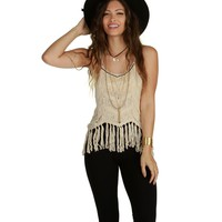 Sale-natural Beach Vibes Beaded Tank