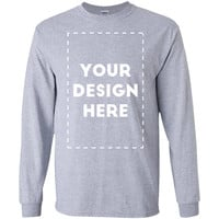 Add Your Own Custom Text Name Personalized Message or Image Unisex T-Shirt-01  LS Ultra Cotton Tshirt