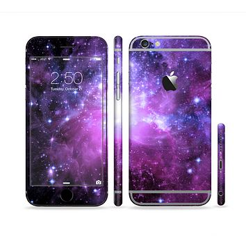 The Violet Glowing Nebula Sectioned Skin Series for the Apple iPhone 6