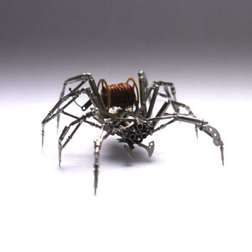 Watch Parts Spider Sculpture No 69 Recycled Watch Parts Clockwork Arachnid Figurine Stems Lightbulb Arthropod A Mechanical Mind Gershenson