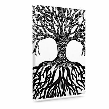 "Adriana De Leon ""The Tree of Life"" Black White Canvas Art"