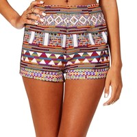 Purple/Orange Tribal Shorts