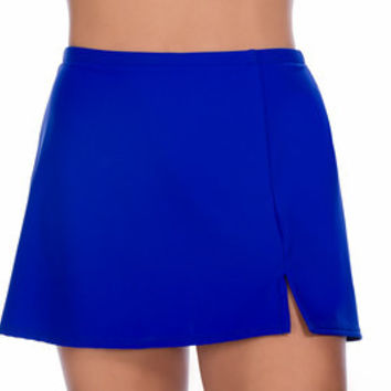Women's Side Slit skirted Bottom